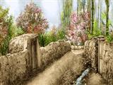 دیوار گلی روستا