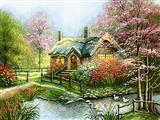 خانه و منظره بهاری