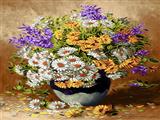 گلدان گل های پرپر