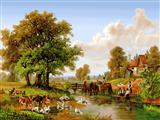 رودخانه کنار دهکده