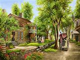 منظره بهاری روستا