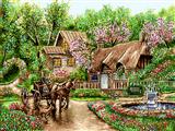 کالسکه و منظره بهاری