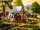گاری اسب روستا