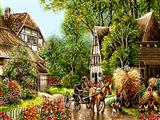 کالسکه در روستا