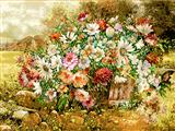 نقاشی دسته گل