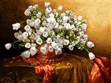 گلدان گلهای سفید