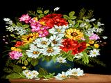 گلدان گل با زمینه سیاه