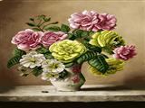 گلدان روی تاقچه
