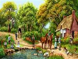 زندگی روستای بهاری