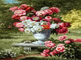 گلدان گل در طبیعت