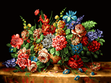 نقاشی زیبای گلدان گل