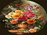 گلدان گل بیضی