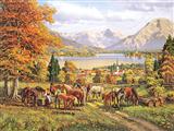 اسبها در دشت زیبا
