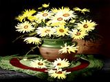 گلدان گلهای زرد