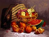 میز پر میوه