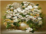 گلدان گل لاله سفید