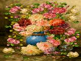 گلدان گل با گلهای پرپر