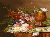 گلها در کنار گلدان
