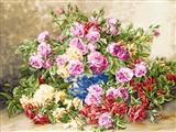 گلدان گلهای محمدی