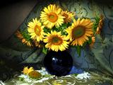 گلدان گلهای آفتابگردان