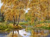 رود جنگل پاییزی