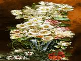 گلدان گل سفید طولی