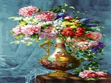 نقاشی گلدان گل زیبا