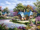 خانه ها کنار رود