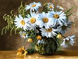 گلدان گل مینا سفید