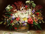 گلدان گلهای ریز