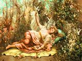 دختر در باغ بوستان