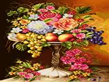 گلدان گل و میوه