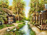 رودخانه جنگلی دهکده